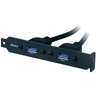 AKASA USB 3.0 bracket - Záslepka