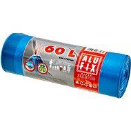 ALUFIX Vrecia na odpadky zaťahovacie s uchami 60 l, 64 × 71 cm, farba modrá, 15 ks/kotúč - Vrecia na odpad