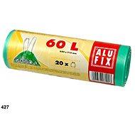 ALUFIX Vrecia na odpadky zaťahovacie 60 l,  64 × 71 cm, farba zelená, 20 ks/kotúč - Vrecia na odpad