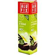 ALUFIX Vrecia s uchami a s aróma vôňou čierny čaj a vanilka, 40 l, kotúč 12 ks, 53 × 60 - Vrecia na odpad