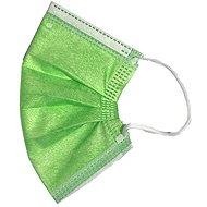RespiLAB Detské jednorazové rúška – zelené (10 ks) - Rúško
