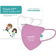 RespiLAB Detský Respirátor FFP2 NR, 10 ks (Ružový) - Respirátor