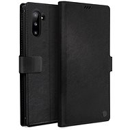 Uniq Journa Heritage Galaxy Note10 Ebene Black - Puzdro na mobil
