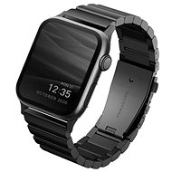 Uniq Strova Apple Watch článkový oceľový remienok 44/42 mm - Midnight čierny - Remienok