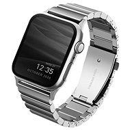 Uniq Strova Apple Watch článkový oceľový remienok 44/42 mm - Sterling strieborný - Remienok