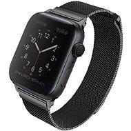 Uniq Dante pre Apple Watch 44 mm Midnight čierny - Remienok