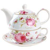 UTC Kanvička porcelánová so šálkou SWEET ROSES - Tea For One