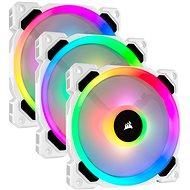 Corsair LL120 RGB 120 mm Dual Light Loop White RGB LED PWM Fan – Triple Pack with Lighting Node PRO - Ventilátor do PC