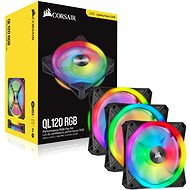 Corsair iCUE QL120 RGB 120 mm PWM Triple Fan + Lighting Node CORE - Ventilátor do PC