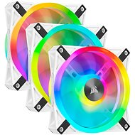Corsair iCUE QL120 RGB 120 mm White Triple Fan Kit - Ventilátor do PC