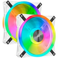 Corsair iCUE QL140 RGB 140 mm White Dual Fan Kit - Ventilátor do PC