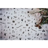 Be Nice Prírodný vianočný baliaci papier – svetlý (5 ks) - Darčekový baliaci papier