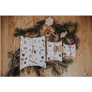 Be Nice Prírodné vianočné krabičky na balenie – svetlé (3 ks)