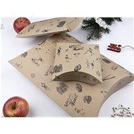 Be Nice Prírodné vianočné krabičky na balenie darčekov – hnedé (3 ks) - Darčeková krabička