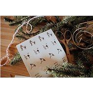 Be Nice Vianočné samolepky – Prírodné (32 ks)