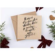 """Be Nice Vianočné prianie – """"Krásne Vianoce plné darčekov"""" - Darčekové prianie"""
