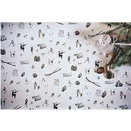 Be Nice Prírodný vianočný papier – svetlý veľký (3 ks) - Darčekový baliaci papier