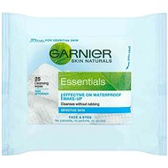 GARNIER Skin Naturals Essentials odličovacie obrúsky 25 ks - Odličovacie obrúsky