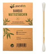 PANDOO Bamboo Cotton Buds for Ears with Organic Cotton, 200pcs - Cotton Swabs