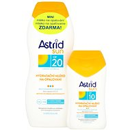 ASTRID SUN Hydratačné mlieko na opaľovanie SPF 20 200 ml + Hydratačné mlieko na opaľovanie SPF 10 100 ml - Súprava