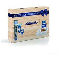 GILETTE Wood Box - Darčeková kozmetická súprava