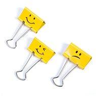 RAPESCO 19 mm – žlté Emoji - Klip na dokumenty
