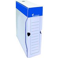 VICTORIA 32 × 8 × 26 cm, modro-biela - Archivačná škatuľa