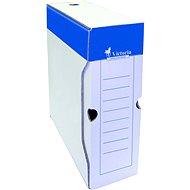 VICTORIA 32 × 10 × 26 cm, modro-biela - Archivačná škatuľa