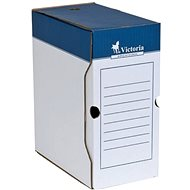 VICTORIA 32 × 15 × 26 cm, modro-biela - Archivačná škatuľa