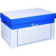 VICTORIA 26 × 46 × 32 cm, modro-biela – balenie 2 ks - Archivačná škatuľa