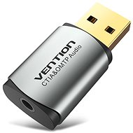 Vention USB External Sound Card Gray Metal Type (OMTP-CTIA) - Externá zvuková karta