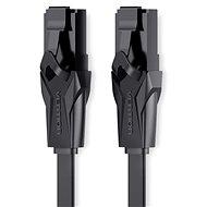 Vention Flat CAT6 UTP Patch Cord Cable 0,75 m Black - Sieťový kábel