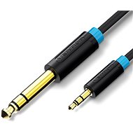 Vention 6,5 mm Jack Male to 3,5 mm Male Audio Cable 1 m Black - Audio kábel