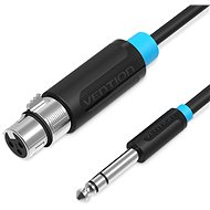 Audio kábel Vention 6,5 mm Male to XLR Female Audio Cable 5 m Black