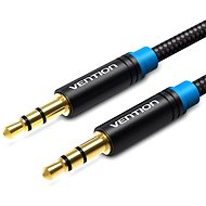 Vention Cotton Braided 3,5 mm Jack Male to Male Audio Cable 1 m Black Metal Type - Audio kábel
