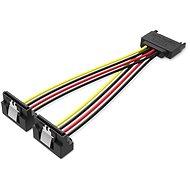 Vention SATA 15P (M) to 2× 15P SATA 90° (F) Power Splitter Cable 0.15M Black - Napájací kábel