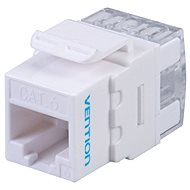 Vention Cat.6 UTP 180 Degree Keystone Jack White - Keystone