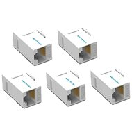 Vention Cat.5E UTP Keystone Jack Coupler 5 Pack White - Keystone