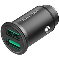 Vention Rapid 2-Port Car Charger (2× QC3.0) 25 W Gray Mini Style Aluminium Alloy Type - Nabíjačka do auta