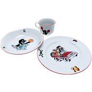 Vetro Plus KRTKO s myškou a autíčkom - Detská jedálenská súprava