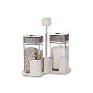 BANQUET Súprava solnička a korenička QUADRA 100 ml, 3 ks, šedá - Menážka