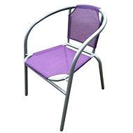HAPPY GREEN Oceľové kresielko textilén, fialové - Kreslo