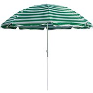 HAPPY GREEN Slnečník plážový 230 cm, zelené pruhy - Slnečník