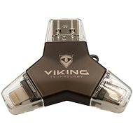 Viking USB Flash disk 3.0 4 v 1 128 GB čierny - USB kľúč