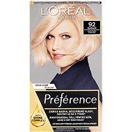 L'ORÉAL PARIS Feri Préférence 92 veľmi svetlá blond dúhová - Farba na vlasy