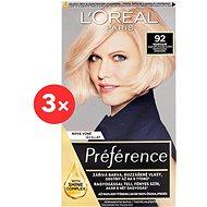 LORÉAL PARIS Préférence 92 Light Blonde Iridescent 3 ×