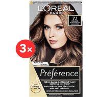 ĽORÉAL PARIS Préférence 7.1 Island Blond popelavá 3 ×