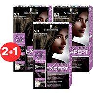 SCHWARZKOPF COLOR EXPERT 5-3 Prirodzene hnedý 3× 50 ml - Farba na vlasy