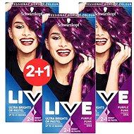 SCHWARZKOPF LIVE Color XXL 94 Purple Punk 3× 50 ml - Farba na vlasy