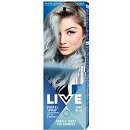 SCHWARZKOPF LIVE Pastel Spray Baby Blue 125 ml - Farebný sprej na vlasy
